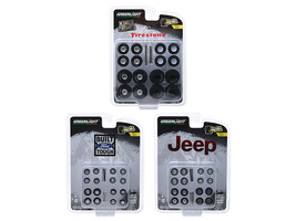 "\Wheel & Tire Packs\"" Set of 3 Multipacks Series 1 1/64 by Greenlight"" - $27.48"