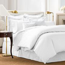 Charter Club Damask Streifen 500 Thread Count Einzelbett Bettbezug Weiß - $59.38