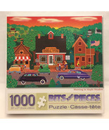 Bits and Pieces puzzle Morning in Maple Meadow 1000 piece Mark Frost - $5.00