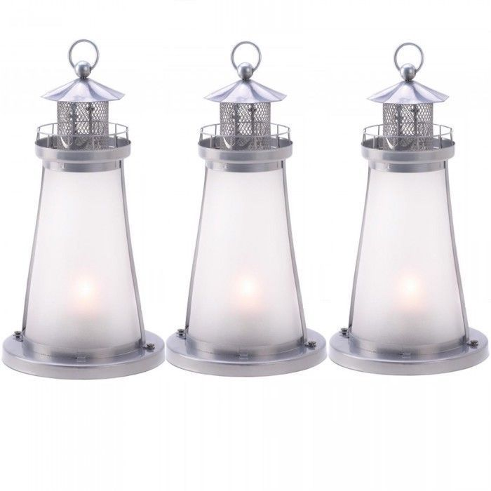 Lot 10 Frosted Lighthouse Lantern Candle Holder Wedding Centerpiece  - $96.03
