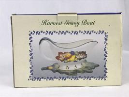 International Bazaar Harvest Gravy Boat Thanksgiving Holiday Leaf Fruit ... - $12.95