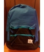 Blue and Black Boys Canvas School Backpack  - £2.35 GBP