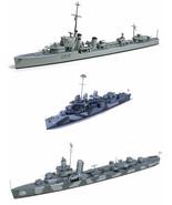 3 Tamiya Models - US Navy Destroyers – DD445 Fletcher, DD-797 Cushing & ... - $42.56