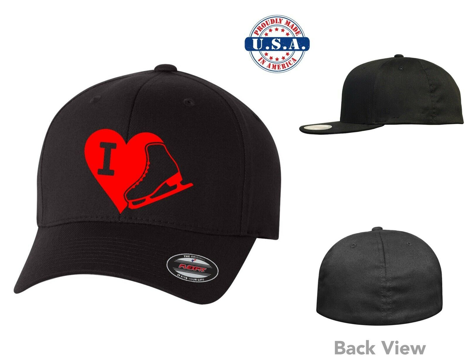 Primary image for LOVE ICE SKATING *** FLEXFIT HAT *FREE SHIPPING in BOX*