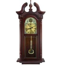 Bedford Clock Collection 38Grand Antique Colonial Chiming Wall Clock wit... - $165.70