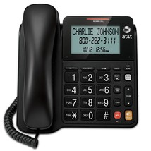 AT&T CL2940 Corded Desk Phone Large Big Button Display Speakerphone Black NEW - $32.95