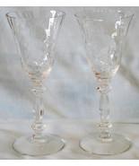 Cambridge Crystal Caprice Cordial Goblet Stem Pair - $32.56