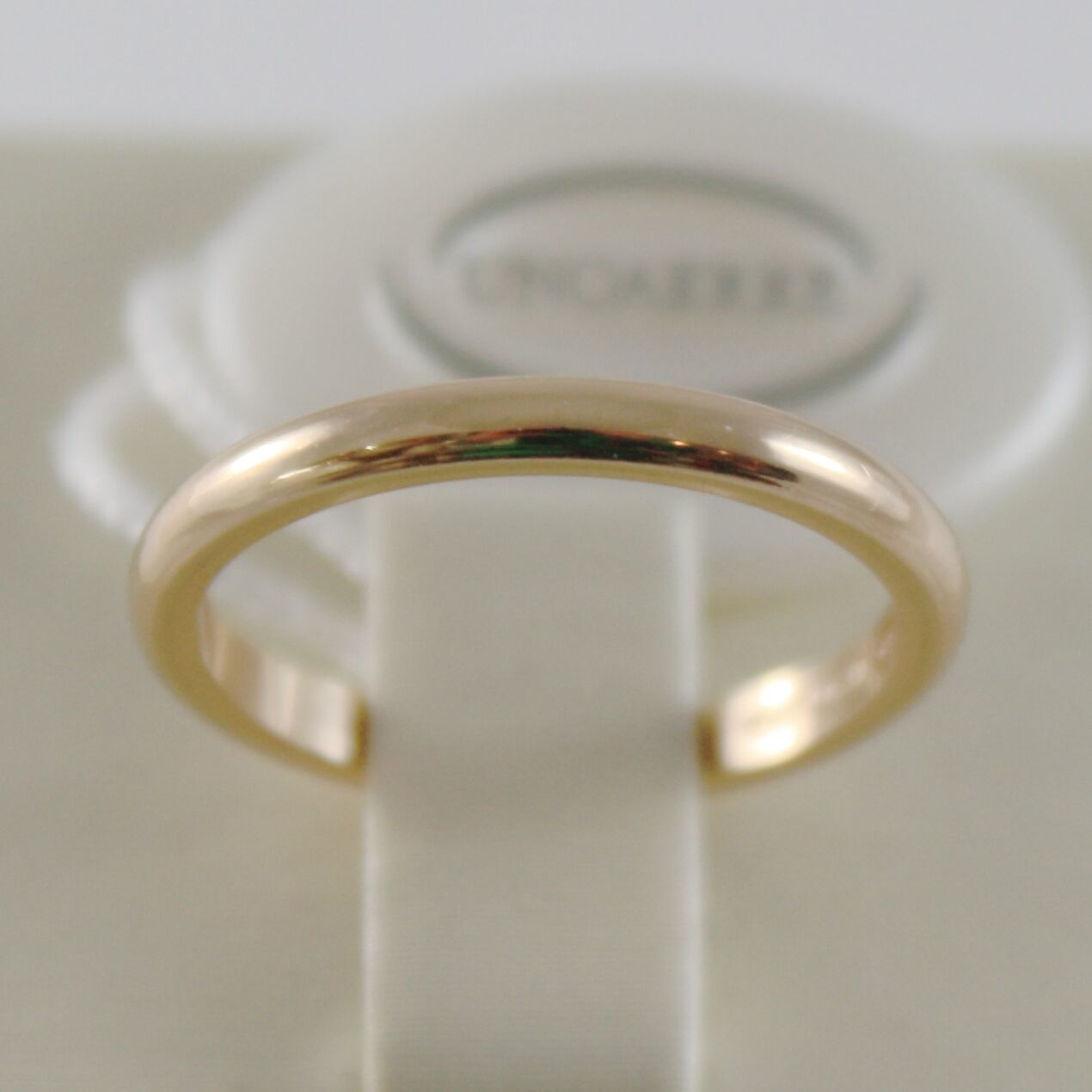 SOLID 18K YELLOW GOLD WEDDING BAND UNOAERRE RING 3 GRAMS MARRIAGE MADE IN ITALY