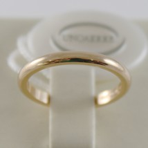 SOLID 18K YELLOW GOLD WEDDING BAND UNOAERRE RING 3 GRAMS MARRIAGE MADE IN ITALY image 1