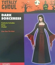 New Womens Dark Sorceress Dress Costume One Size Small Medium Red Nwt Free Ship - $22.99