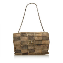 Pre-Loved Chanel Brown Beige Suede Leather Reissue Patchwork Flap Bag Fr... - $896.64