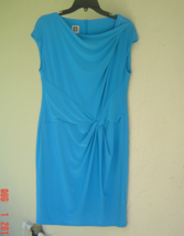 NWT ANNE KLEIN BLUE CAREER SHEATH DRESS SIZE 14 $99 - $33.72