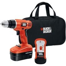 BLACK+DECKER(TM) GCO18SFB 18-Volt Cordless Drill & Stud Sensor Kit - $117.88