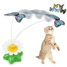 1 Pcs Electric Rotating Colorful Butterfly Funny Cat Toy 8 x 5.5cm - $5.99