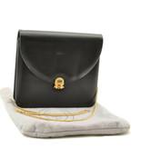 Christian Dior Chain Shoulder Bag Leather Black Auth ar1492 - $210.00