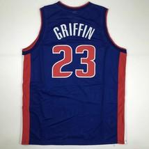 New BLAKE GRIFFIN Detroit Blue Custom Stitched Basketball Jersey Size Men's XL - $49.99