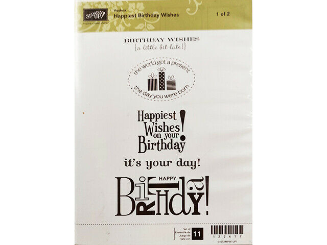 Stampin' Up! Happiest Birthday Wishes Sets 1 and 2 #122617