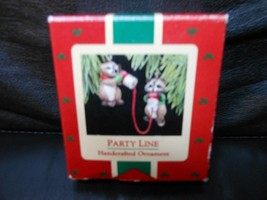 "Hallmark Keepsake ""Party Line Raccoons"" 1988 Ornament NEW - $10.15"