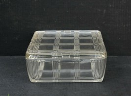 Hazel Atlas Clear Criss Cross Depression Glass Square Refrigerator Dish ... - $34.99