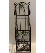 Metal palm leaf toilet tissue paper holder, Home Decor NEW In Box - $28.99