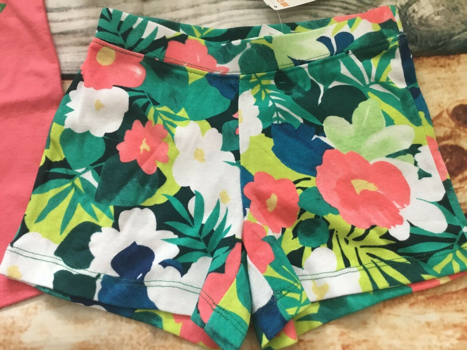 Gymboree 5 6 7 8 Sunny Safari Go Wild Tank Top Tropical Shorts Hair NWT Outlet