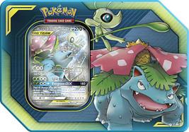 Pokemon TCG Tag Team Tin Celebi & Venusaur GX 4 Booster Packs Sealed - $24.95