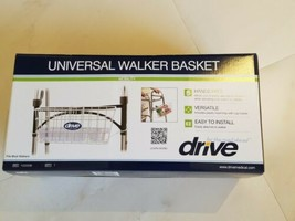 Drive Medical Walker Basket With Plastic Insert Tray  - $19.65