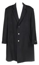 Emanuel Ungaro Men's Wool Cashmere Blend Single Breasted Top Coat Black ... - $183.99