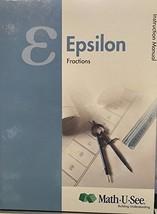 Epsilon Instruction Manual Fractions [Hardcover] [Jan 01, 2012] Steven P... - $14.69