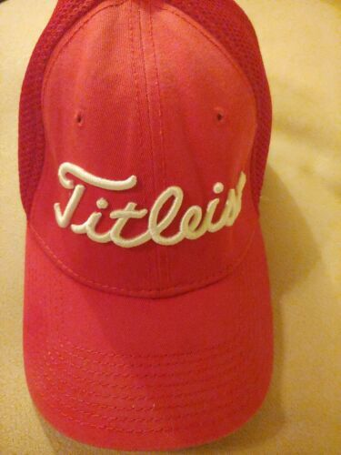FootJoy Titleist ProV1 Men's Golf Hat Cap Small Medium Red Mesh Back Fitted