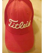 FootJoy Titleist ProV1 Men's Golf Hat Cap Small Medium Red Mesh Back Fitted - $19.75