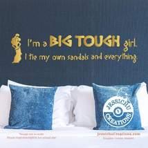 I'm a big tough girl. I tie my own sandals - Hercules Disney Quote Vinyl... - $7.00+
