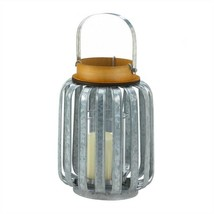 Industrial Inspired Galvanized Metal Candle Lantern - $19.16