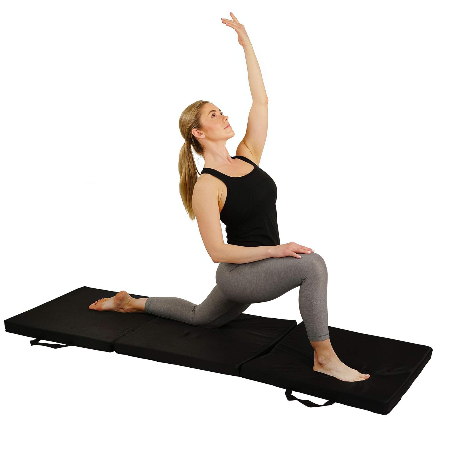 Sunny Health & Fitness Exercise Folding Mat for Yoga, Fitness, Aerobics,