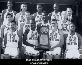 1966 Texas Western Miners 8X10 Team Photo Ncaa Basketball Champs - $3.95