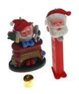 Hallmark Christmas Ornaments Lot of 2 Genius at Work Moves Pez Santa 1992 1995 - $14.99