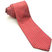 NEW BROOKS BROTHERS 58L Red Light Blue Geometric Pure Silk Mens Neck Tie - $49.49