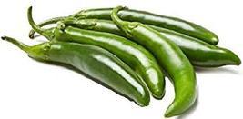 Sow No GMO Pepper Serrano Hot Chili Non GMO Heirloom Spicy Vegetable 100... - $3.73