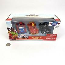 Marvel Super Hero Adventures 3 Pack Vehicle Set Race Cars Iron Man Black... - $23.75