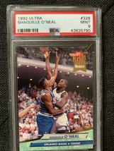 1992-93 Fleer Ultra #328 Shaquille O'Neal Magic RC Rookie HOF PSA 9 MINT - $21.56