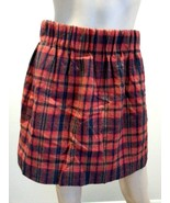 J Crew Red Tartan Plaid Stripe Wool Blend Mini Skirt 2 - $66.49