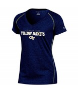 Champion NCAA Georgia Tech Women's Short Sleeve V Neck Tee, X-Small Navy... - $19.80