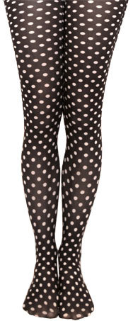 Primary image for Polk-Dot TIGHTS, Footed or Footless, Blue or White. Made in USA. SEASONAL SALE!