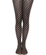 Polk-Dot TIGHTS, Footed or Footless, Blue or White. Made in USA. SEASONA... - £9.44 GBP