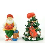 1997 Possible Dreams Golfing Stand with Tree Figurines Golf w/ Tin Colle... - $42.31