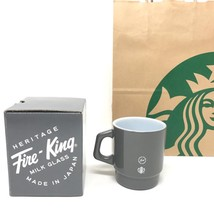 Starbucks Japan Fragment Design Fire-King Glass Mug Cup 207ml gray LTD F... - $78.78