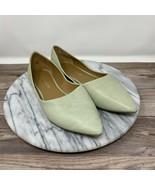 Franco Sarto Heath Mint Green Leather Pointed Toe Flats Women's Size 6.5M - $29.95