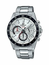 Casio Men's Edifice Quartz Watch with Stainless-Steel Strap, Silver, Sil... - £86.14 GBP