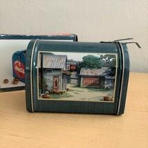 "Vintage 1999 Coca Cola 5"" Mailbox Collector Farmhouse Country Tin - New in Box  - $9.90"
