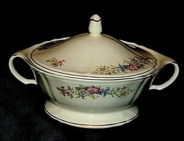Floral Tureen Semi-Vitreous Soup Tureen USA 46-3 AA20-7419 Vintage